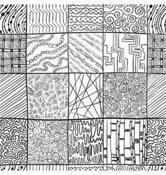 doodle seamless vector image vector image