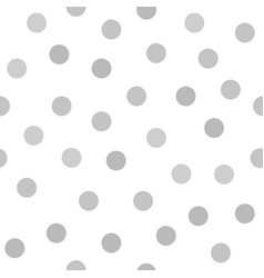 gray polka dot pattern seamless background vector image