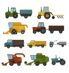 Harvest machine set vector image