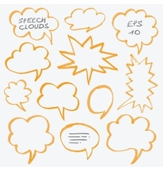 Highlighter Speech Clouds and Bubbles Design vector image vector image