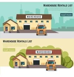Logistics and warehouse vector