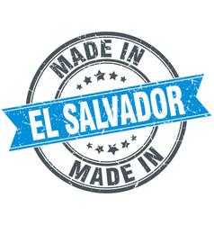 Made in el salvador blue round vintage stamp vector