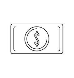 money billet isolated vector image
