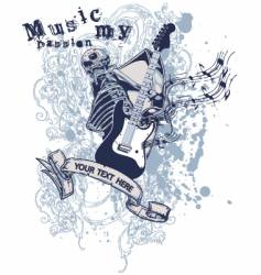 music my passion vector image