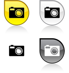 Photo button vector