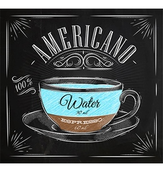 Poster americano chalk vector image