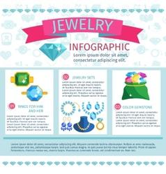 Precious jewels infographics vector