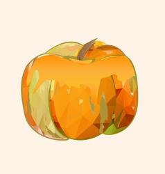 pumpkin polygonal vector image vector image