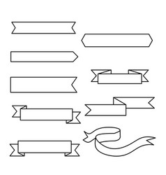 ribbons and labels on white vector image vector image