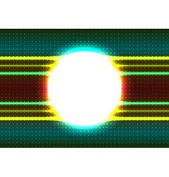 Shiny circle frame vector image