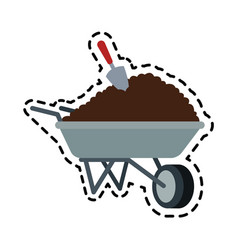 Soil or dirt icon image vector