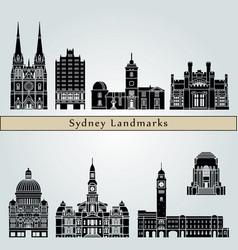 sydney v3 landmarks vector image vector image