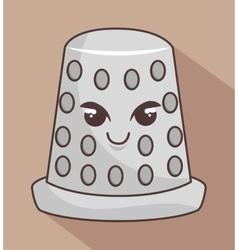 Thimble metal character icon vector