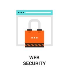 web security icon vector image