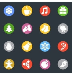 Winter stickers icon in the circle set vector image vector image