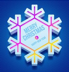 Christmas three-dimensional snowflake vector image