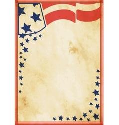 Grunge US vintage poster vector image