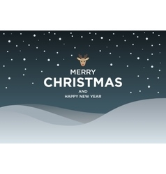 Vintage Christmas card with Greeting text and vector image