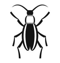 Beetle bug icon simple style vector