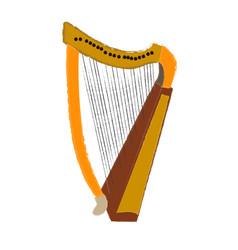 Isolated harp vector