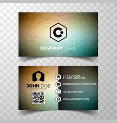 Modern abstract business card design template vector