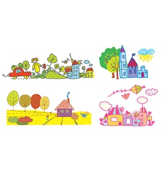 Funny background for kids vector
