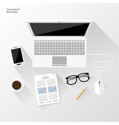 White workspace vector