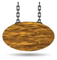 Wood board and chain vector