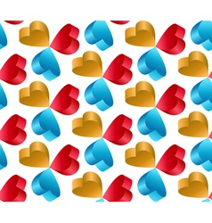 3d flying heart abstract seamless pattern vector