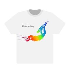 Kiteboarding vector image
