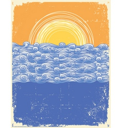 Vintage sea background vector
