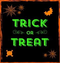 Halloween icons and trick or treat text vector