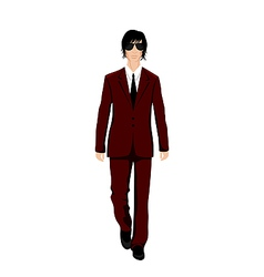 Businessman in suit isolated - vector