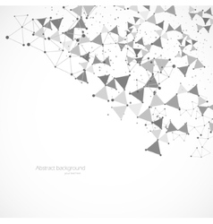 Polygonal background vector image