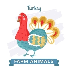 Turkey isolated vector