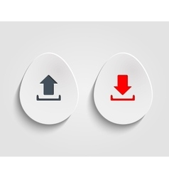 Egg button vector
