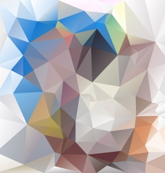 Blue beige abstract polygon triangular pattern vector
