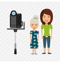 Family video camera design vector