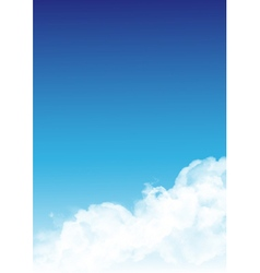 Fluffy white clouds vector