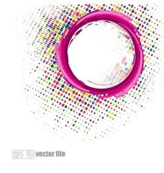 abstract colorful swirly vector image vector image