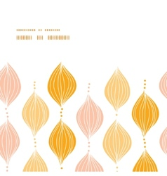 abstract golden ogee horizontal frame seamless vector image vector image