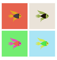 aquarium fish silhouette stock collection vector image vector image