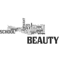 Beauty schools should you attend one text word vector