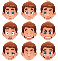 Boy Expressions vector image vector image