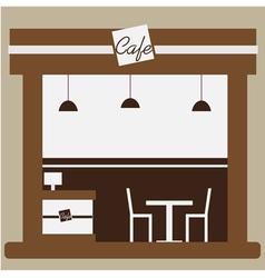 Cafe and shop facade vector