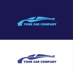 Car shape logo design vector image