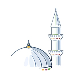 Colorful mosque drawing vector image