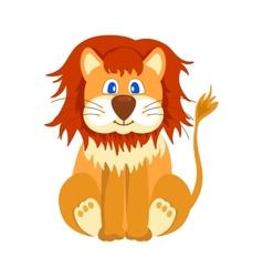Happy lion cartoon vector