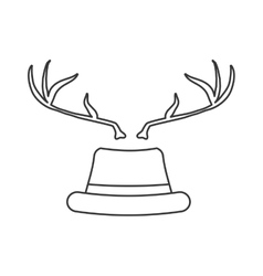 Hat and deer icon hipster style concept vector