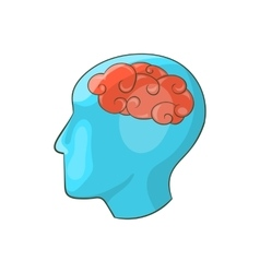 Human brain icon cartoon style vector image vector image